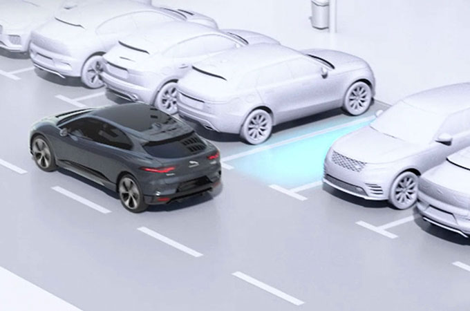 Video Of Jaguar I-PACE Using Park Assist Feature.