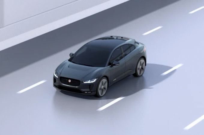 Jaguar I-Pace On Road Driver Condition Monitor.