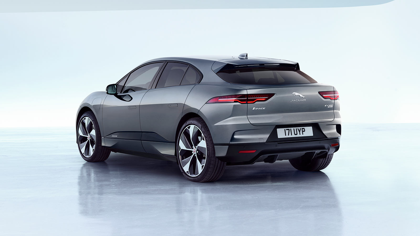 Jaguar I-Pace Rear 3/4 Angle.