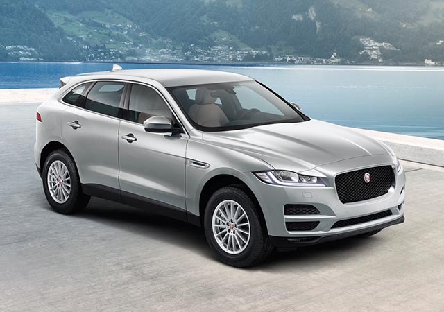 Grey Jaguar F-PACE Prestige Model