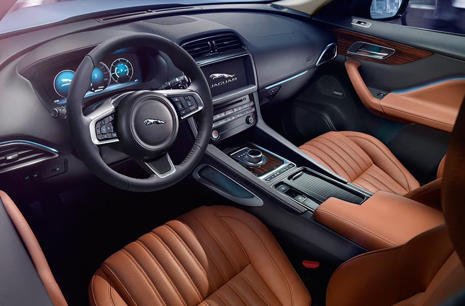 Jaguar Portfolio Configurable Ambient Interior Lighting