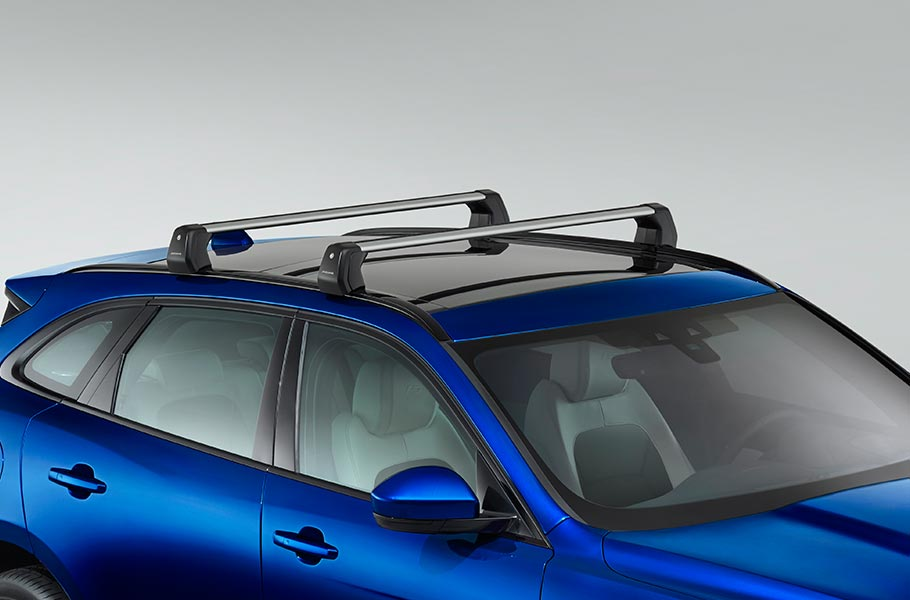 Blue F-PACE Roof Rails Jaguar Accessory