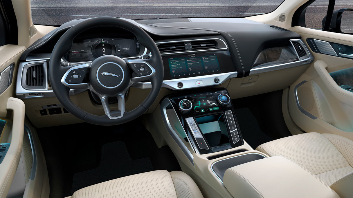 Jaguar I-Pace Interior View.