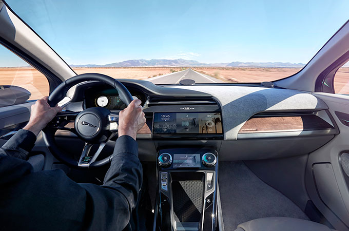 jaguar i-pace interior.