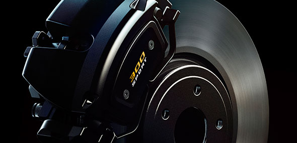 Jaguar XF 300 SPORT - Jaguar brakes, with unique 300 SPORT branding.