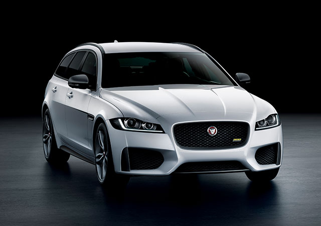 Jaguar XF 300 SPORT - The striking design of Jaguar's XF 300 SPORT sportbrake in Yulong White.