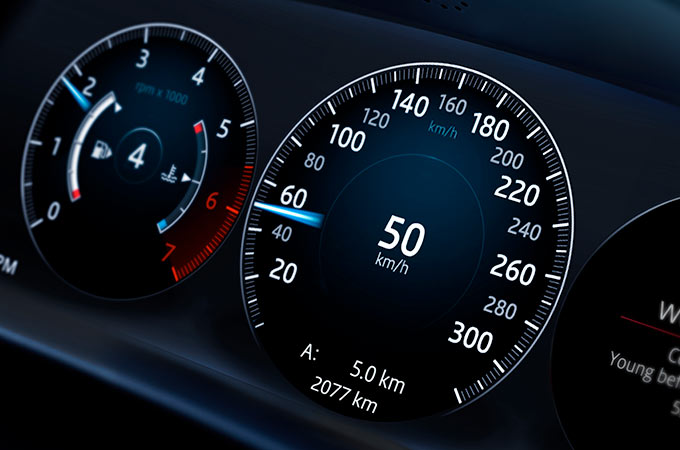 Jaguar XJ Interactive Driver Display.