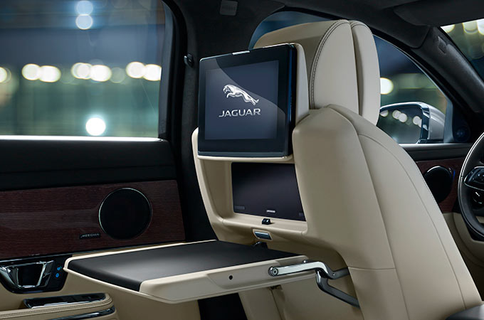 Jaguar XJ Rear Seat Entertainment Screen.