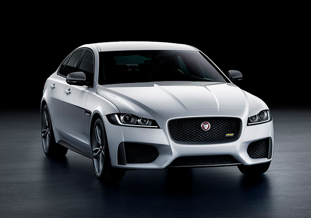 Jaguar's XF 300 SPORT - The striking design of Jaguar's XF 300 SPORT saloon in Indus Silver.
