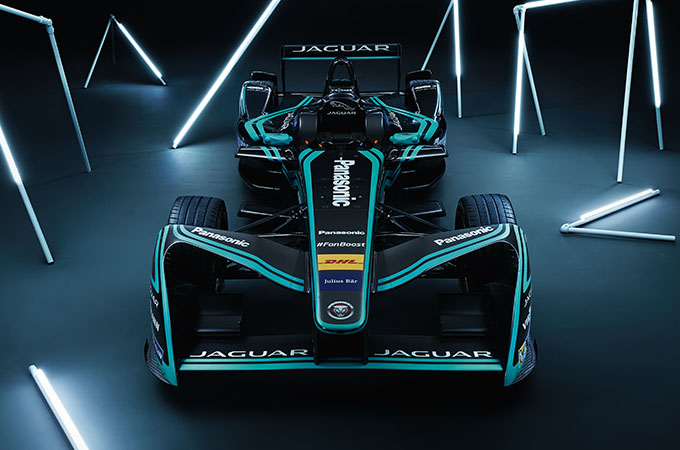 Jaguar Formula E Racing Car.