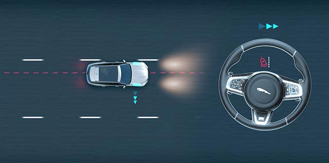 Jaguar Lane Keep Assist Demo