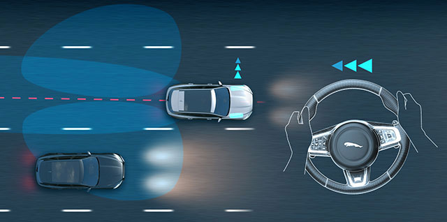Jaguar Blind Spot Assist Demo