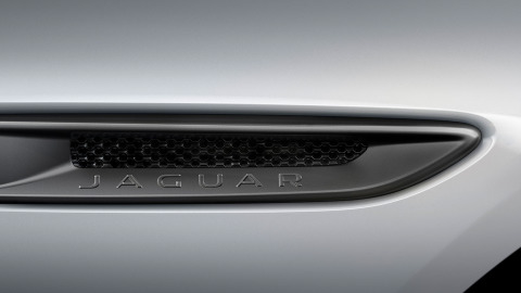 "Jaguar XF 300 SPORT - Dark Satin Grey grille surround, side vents and 19"" Diamond Turned finish wheels."