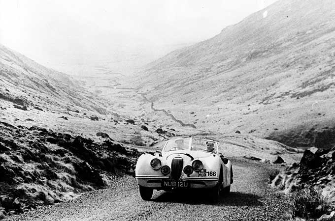 NUB120 on the Furka Pass, during the 1950 Alpine Rally.