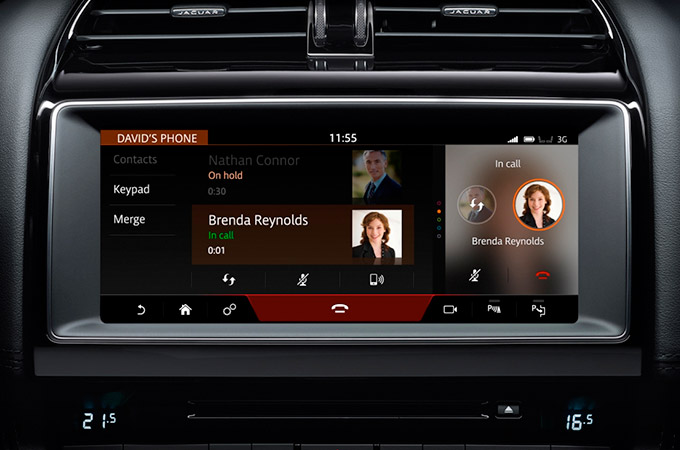 Jaguar F-PACE's InControl Touch Pro: Phone Operation information video.