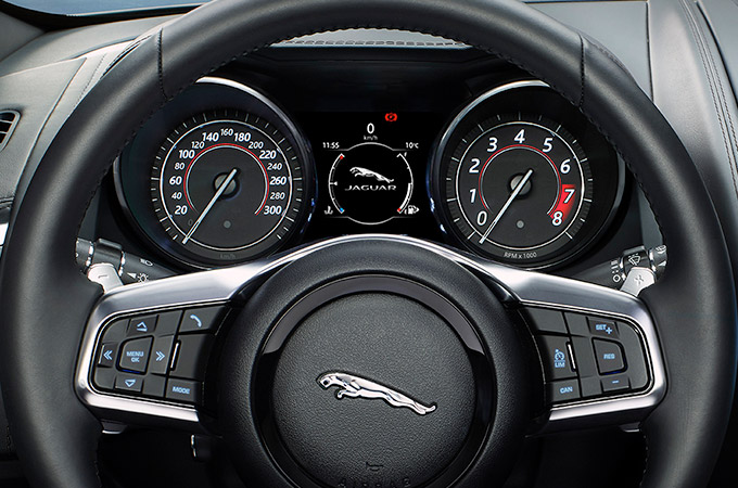 Jaguar Infotainment Screen Display