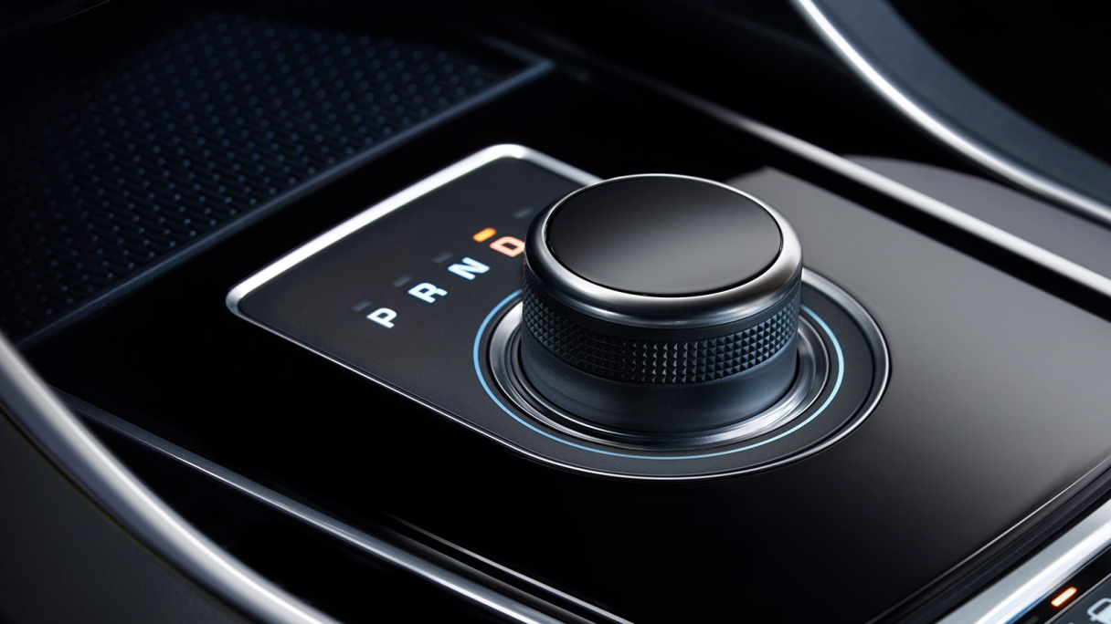 Jaguar XE Start Button.
