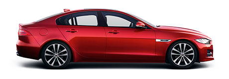 Red Jaguar XE Side Profile