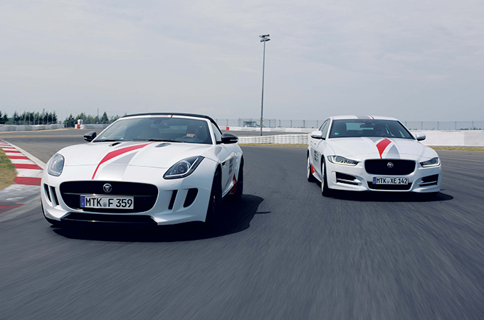 Jaguar Driving Academy F-type and XF.