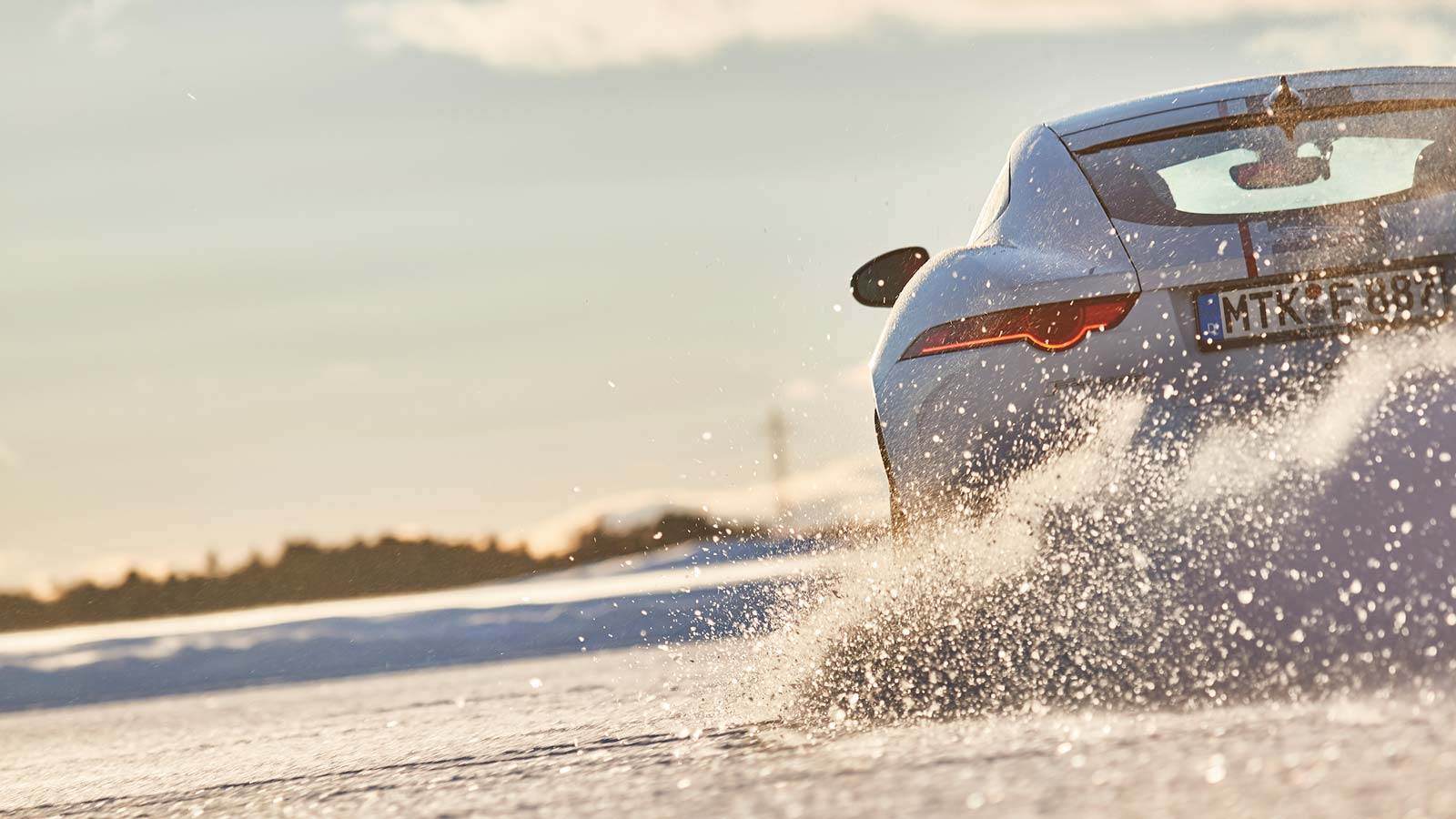 Ice Academy, F-TYPE rear shot, Ice Drive Experience.