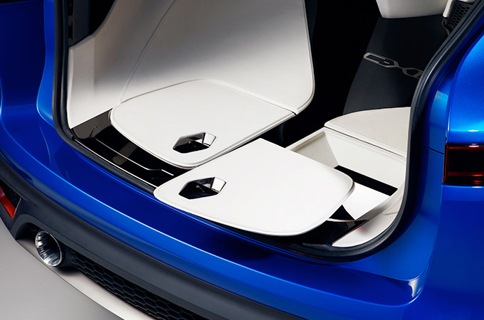 Rear boot compartment storage.