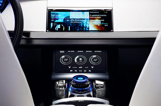 Interactive Infotainment touch screen.