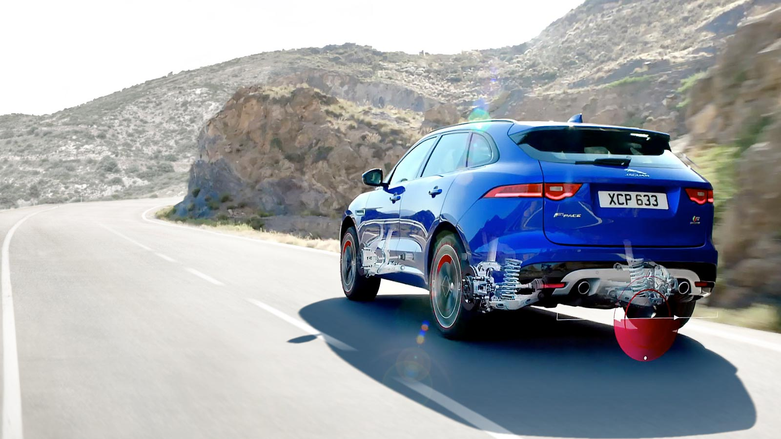 Jaguar F-Pace Blue Exterior Rear