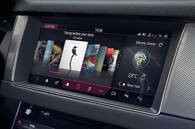 Jaguar XF InControl Touch Display.