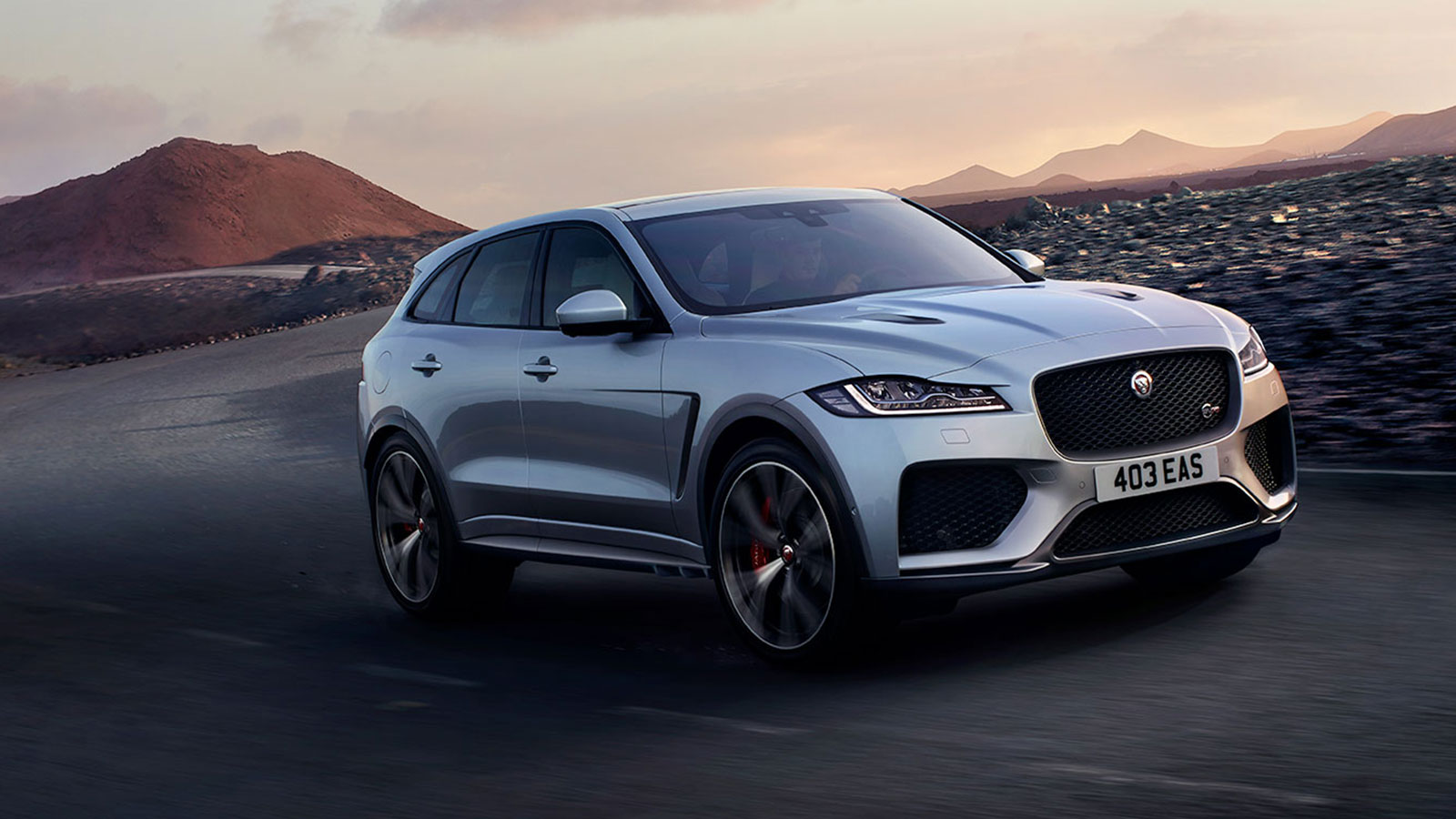 Front View of Silver F-Pace.