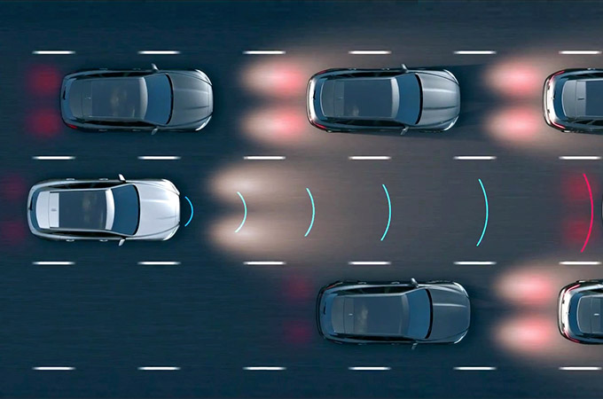 Adaptive Cruise Control With Steering Assist.