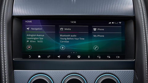 Jaguar F-TYPE Sports Car features InControl Touch Pro touchscreen interface