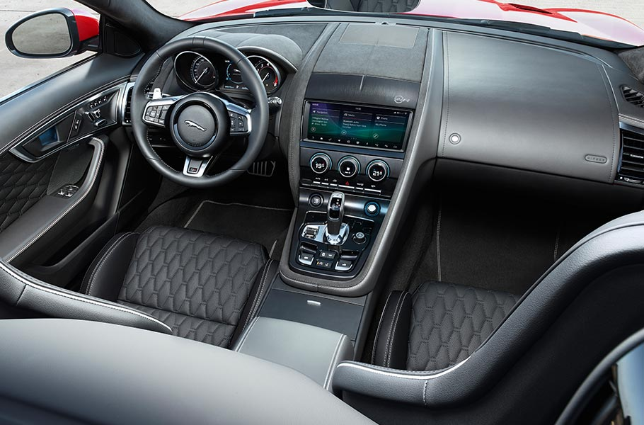 Jaguar F-TYPE Interior Driver Controls