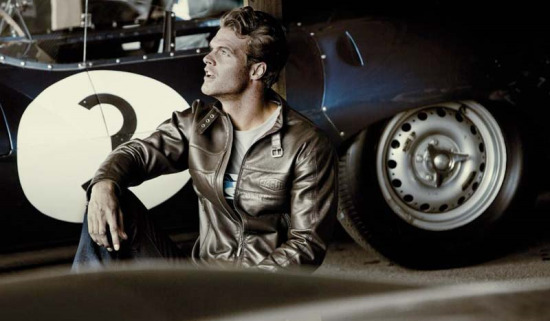 Jaguar Collection Shared, Man in leather jacket.