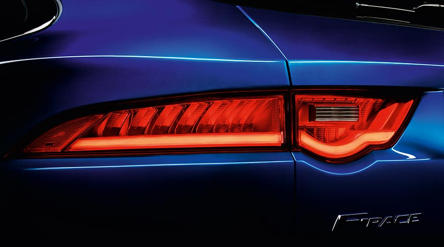 F-pace rear light