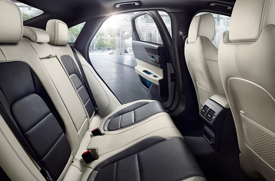 The Jaguar XF cabin - one of luxury, choice and abundant space
