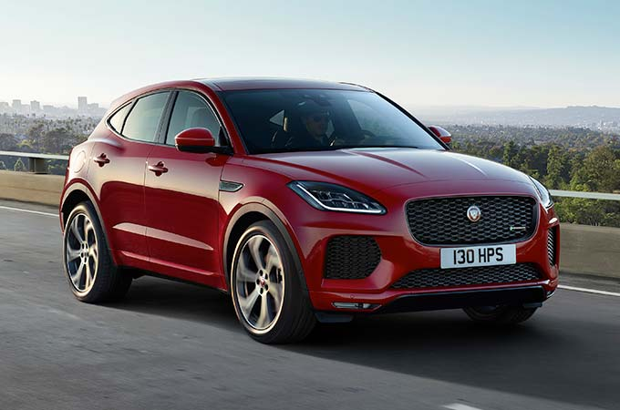 Jaguar E-PACE in Caldera Red