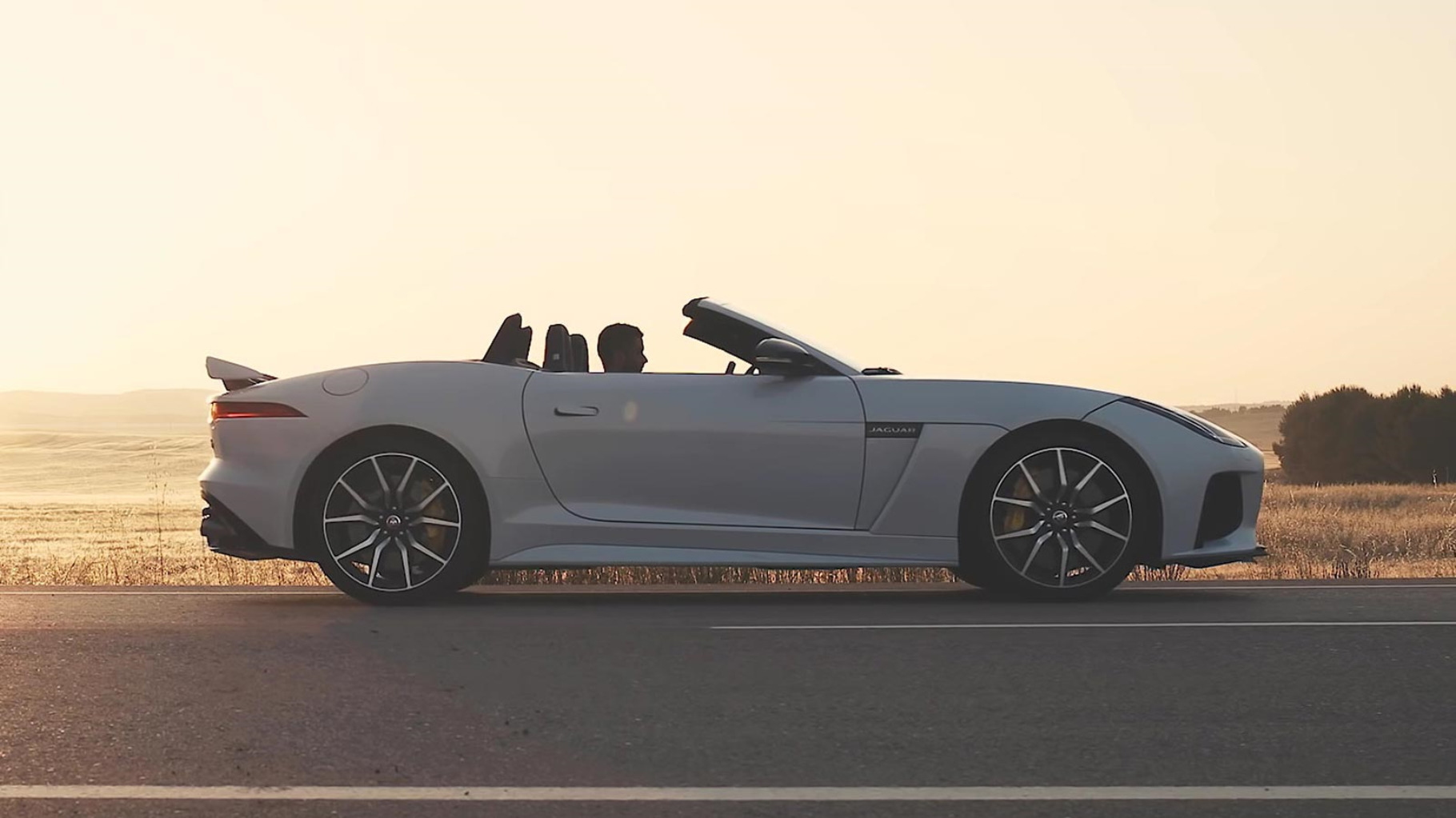 f-TYPE Driving on Road.