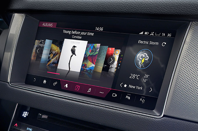 touchscreen with audio.