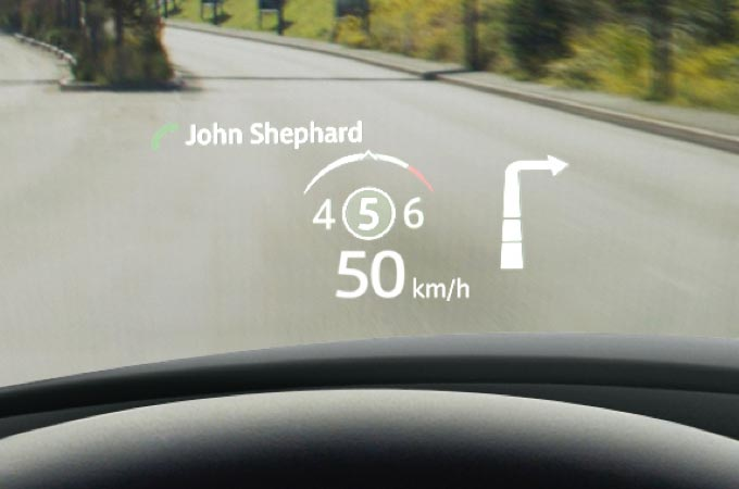 Innovative Clear Heads-up Display.