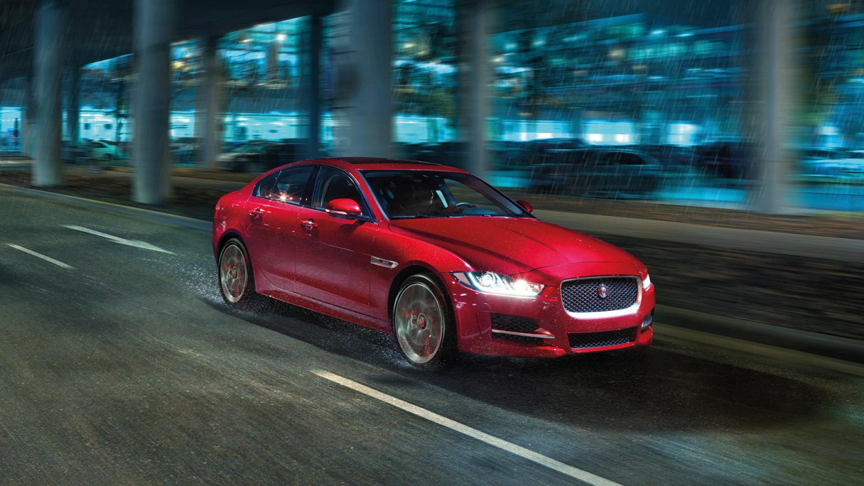 Jaguar XE Driving through Rain