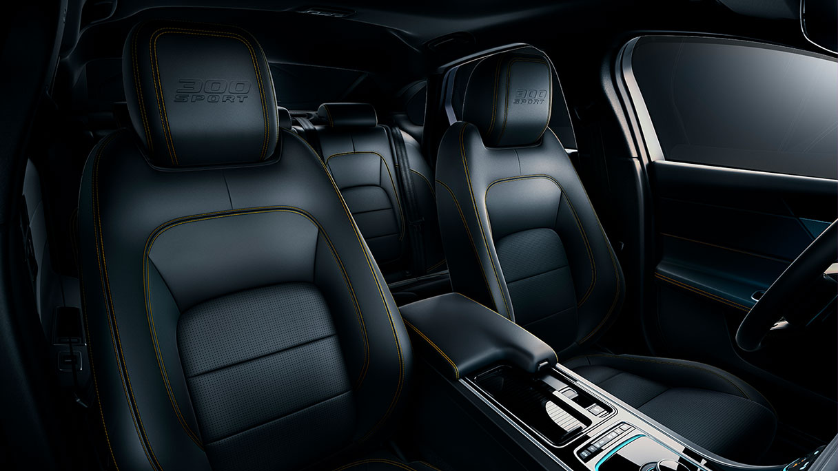 Jaguar XF 300 Sport seating.