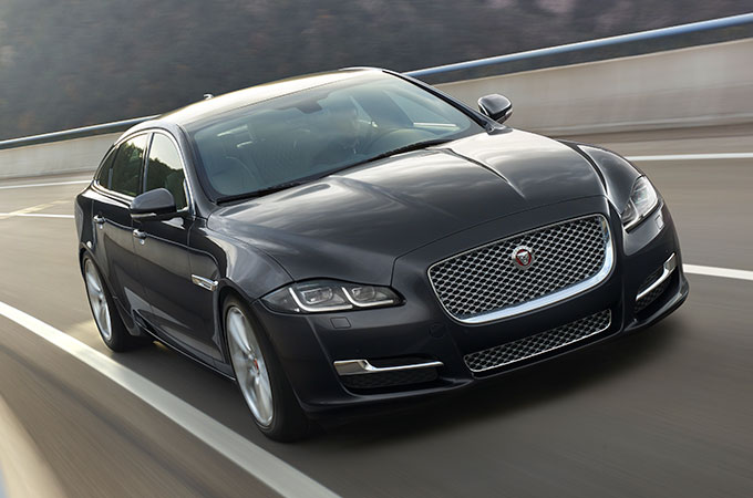 Jaguar XJ On Road.