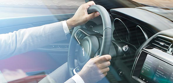 Electric Power Assisted Jaguar XE Steering wheel