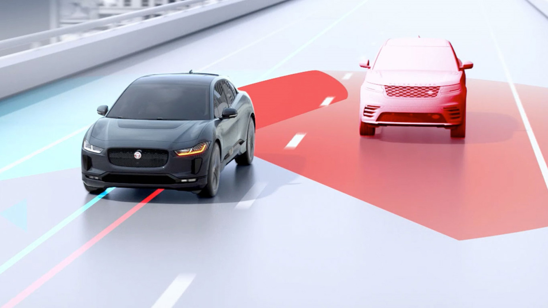 I-Pace Blind Spot Assist.