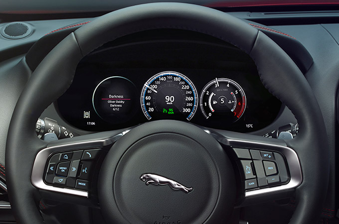 Jaguar F-Pace Electric Power Assisted Steering Wheel.