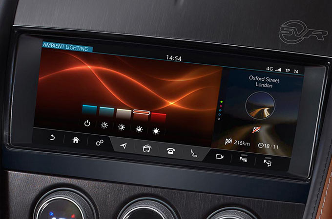 Jaguar F-Type Configurable Lighting Display.