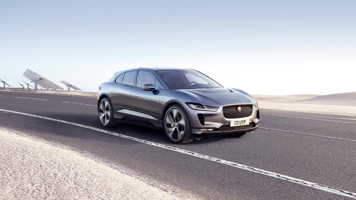 Jaguar I-Pace driving.