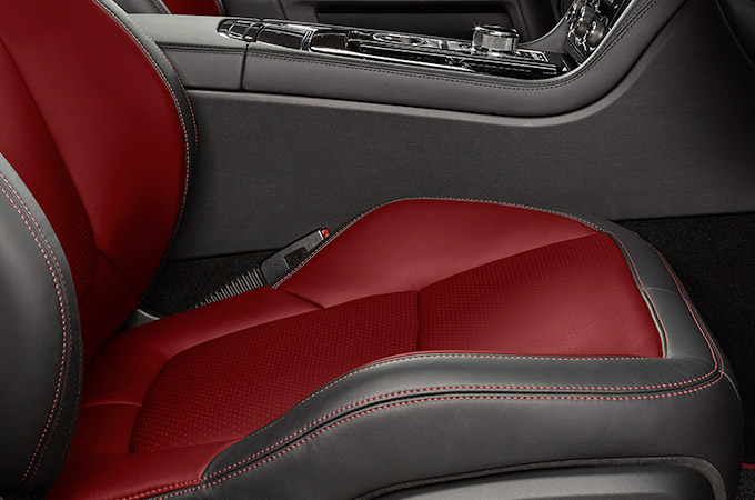 Jaguar XJ Twin-Needle Stitching on Interior Seats.