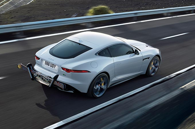 Jaguar F-Type Exterior Accessories Gloss Black Roll Over Bars.
