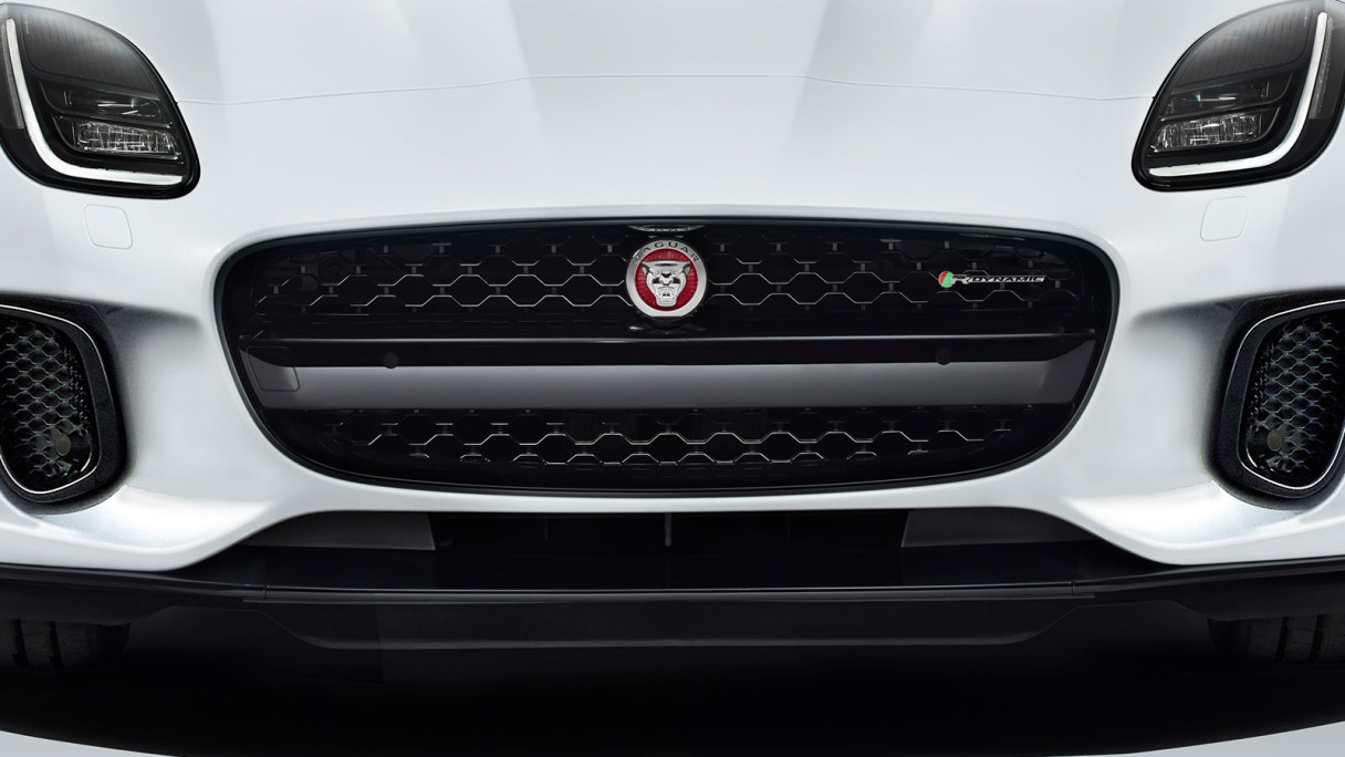 Front Grill Of Jaguar F-Type.